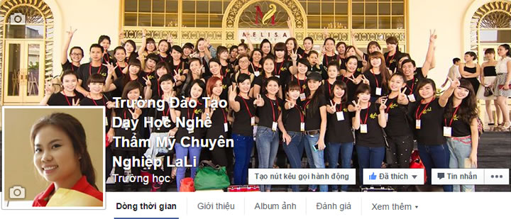 facebook truong dao tao day hoc nghe tham my chuyen nghiep lali
